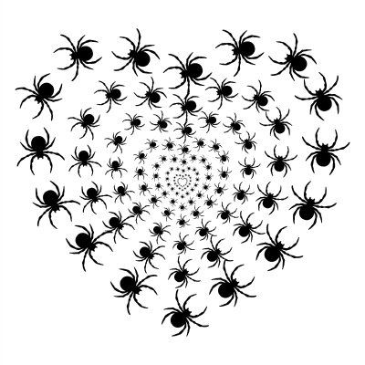 Spider Heart Halloween fun