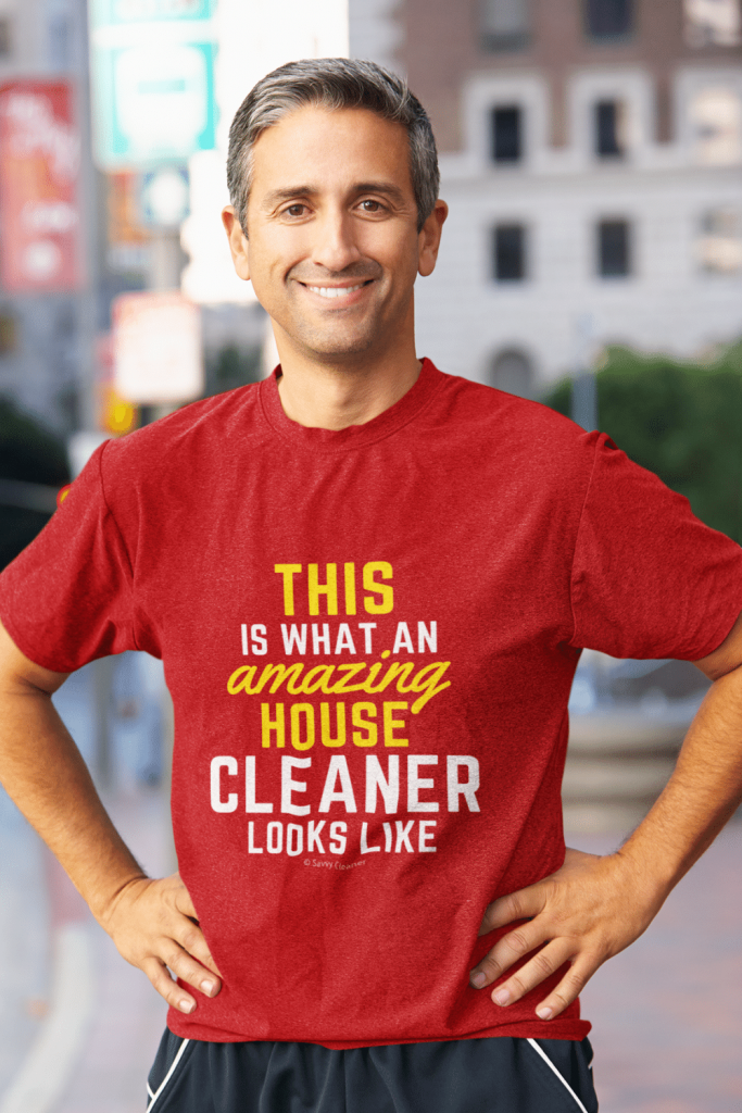 This Amazing House Savvy Cleaner Funny Cleaning Shirts Comfort Tee