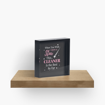 Upon A Star, Savvy Cleaner Funny Cleaning Gifts, Cleaning Collectible Cube
