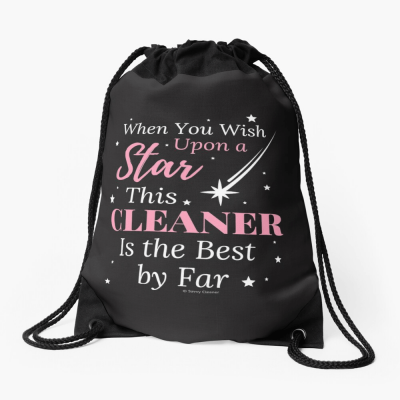Upon A Star, Savvy Cleaner Funny Cleaning Gifts, Cleaning Drawstring Bag