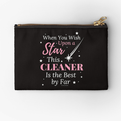 Upon A Star, Savvy Cleaner Funny Cleaning Gifts, Cleaning Zipper Bag