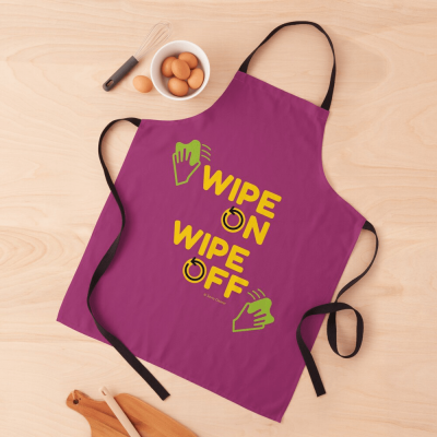 Wipe On Wipe Off, Savvy Cleaner Funny Cleaning Gifts, Cleaning Apron
