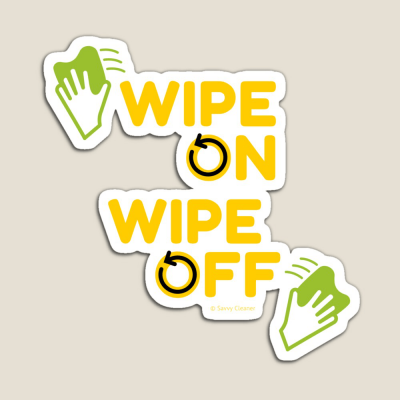 Wipe On Wipe Off, Savvy Cleaner Funny Cleaning Gifts, Cleaning Magnet