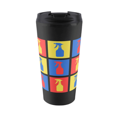Andy SprayAll Savvy Cleaner Funny Cleaning Gifts Travel Mug
