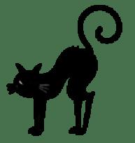 Black Cat Silhouette 1