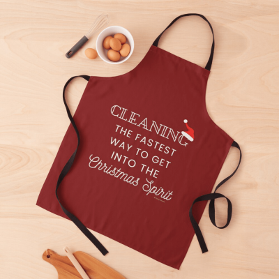 Christmas Spirit, Savvy Cleaner Funny Cleaning Gifts, Cleaning Apron