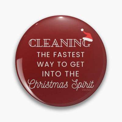 Christmas Spirit, Savvy Cleaner Funny Cleaning Gifts, Cleaning Button