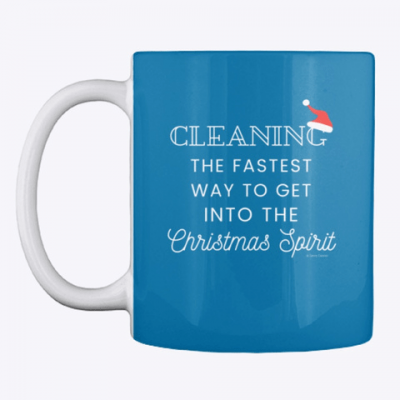 Christmas Spirit, Savvy Cleaner Funny Cleaning Gifts, Cleaning Mug