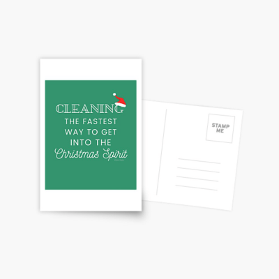 Christmas Spirit, Savvy Cleaner Funny Cleaning Gifts, Cleaning Postcard