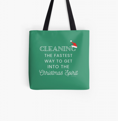 Christmas Spirit, Savvy Cleaner Funny Cleaning Gifts, Cleaning Tote Bag