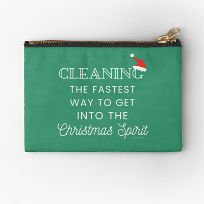Christmas Spirit, Savvy Cleaner Funny Cleaning Gifts, Cleaning Zipper Bag