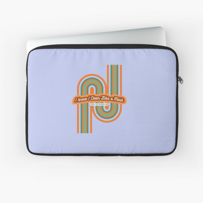 Clean Like a Maid, Savvy Cleaner, Funny Cleaning Gifts, Cleaning Laptop Sleeve