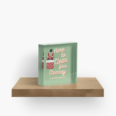 Clean Your Chimney, Savvy Cleaner, Funny Cleaning Gifts, Cleaning Collectible Cube