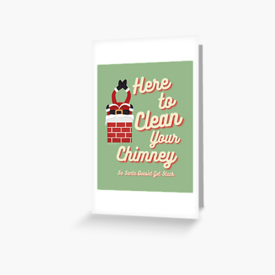 Clean Your Chimney, Savvy Cleaner, Funny Cleaning Gifts, Cleaning Greeting Card