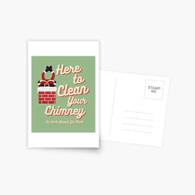 Clean Your Chimney, Savvy Cleaner, Funny Cleaning Gifts, Cleaning Postcard