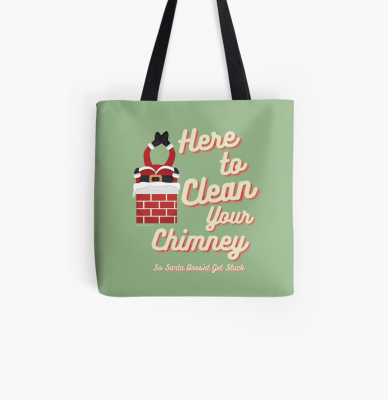 Clean Your Chimney, Savvy Cleaner, Funny Cleaning Gifts, Cleaning Tote Bag