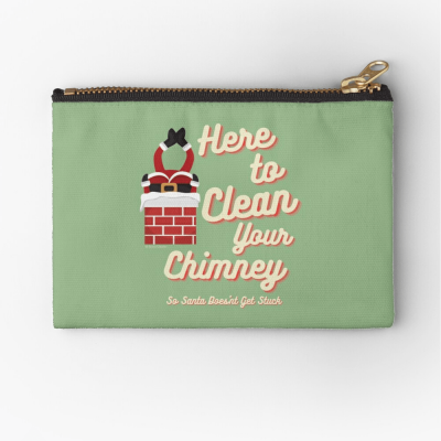 Clean Your Chimney, Savvy Cleaner, Funny Cleaning Gifts, Cleaning Zipper Bag