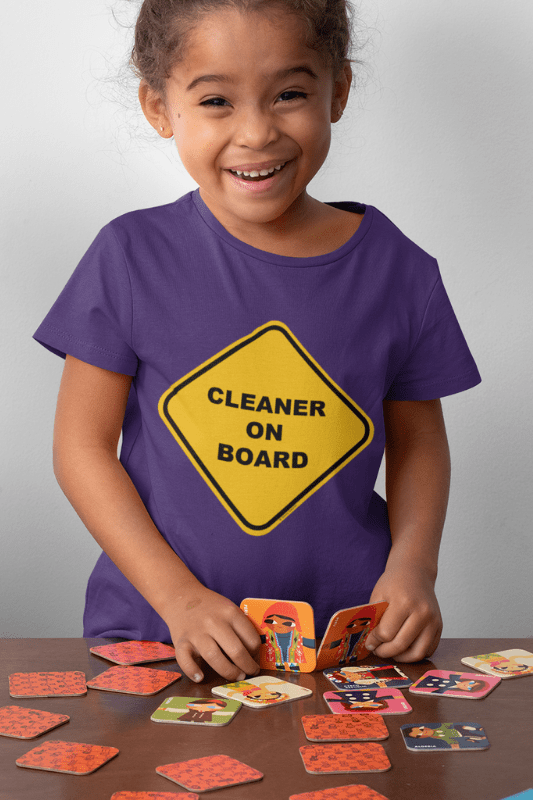 Cleaner on Board, Savvy Cleaner Funny Cleaning Shirts, Kids Tee