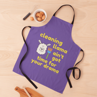 Cleaning Llama, Savvy Cleaner Funny Cleaning Gifts, Cleaning Apron