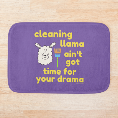 Cleaning Llama, Savvy Cleaner Funny Cleaning Gifts, Cleaning Bathmat