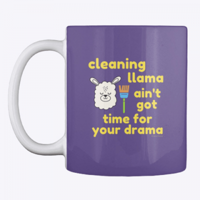 Cleaning Llama, Savvy Cleaner Funny Cleaning Gifts, Cleaning Mug