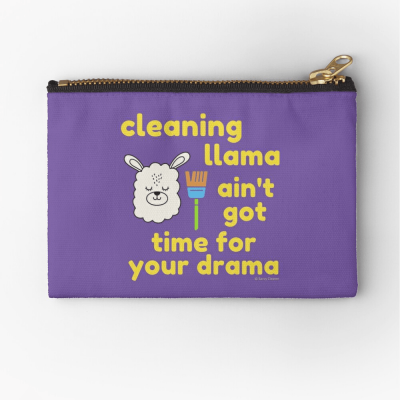 Cleaning Llama, Savvy Cleaner Funny Cleaning Gifts, Cleaning Zipper Bag
