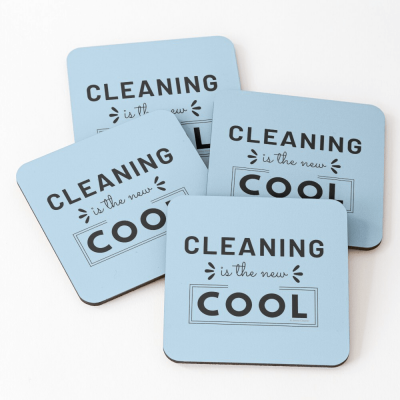 Cleaning is the New Cool, Savvy Cleaner Funny Cleaning Gifts, Cleaning Coasters