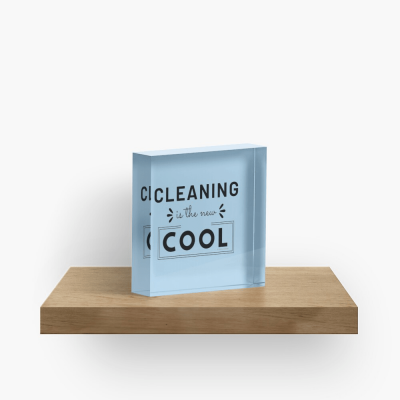Cleaning is the New Cool, Savvy Cleaner Funny Cleaning Gifts, Cleaning Collectible Cube