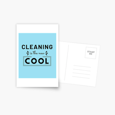 Cleaning is the New Cool, Savvy Cleaner Funny Cleaning Gifts, Cleaning Postcard