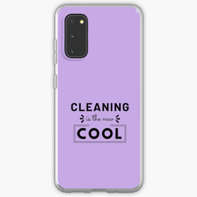 Cleaning is the New Cool, Savvy Cleaner Funny Cleaning Gifts, Cleaning Samsung Galaxy Phone Case