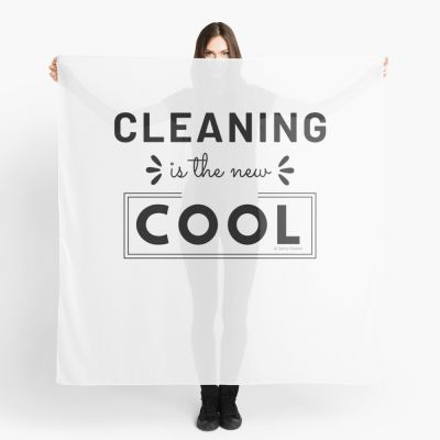 Cleaning is the New Cool, Savvy Cleaner Funny Cleaning Gifts, Cleaning Scarf