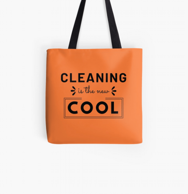 Cleaning is the New Cool, Savvy Cleaner Funny Cleaning Gifts, Cleaning Tote Bag