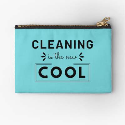 Cleaning is the New Cool, Savvy Cleaner Funny Cleaning Gifts, Cleaning Zipper Bag