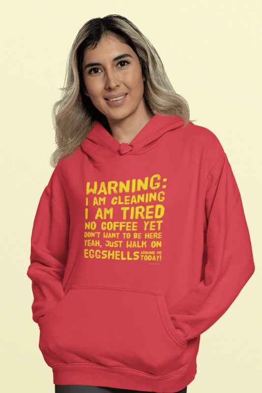 Eggshells, Savvy Cleaner Funny Cleaning Shirts, Premium Pullover Hoodie