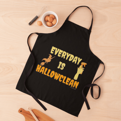 Every Day is Hallowclean, Savvy Cleaner Funny Cleaning Gifts, Cleaning Apron