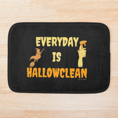 Every Day is Hallowclean, Savvy Cleaner Funny Cleaning Gifts, Cleaning Bathmat