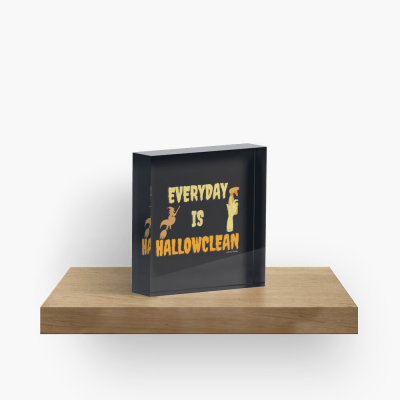 Every Day is Hallowclean, Savvy Cleaner Funny Cleaning Gifts, Cleaning Collectible Cube