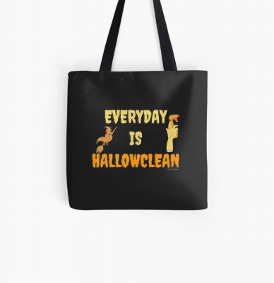 Every Day is Hallowclean, Savvy Cleaner Funny Cleaning Gifts, Cleaning Tote Bag