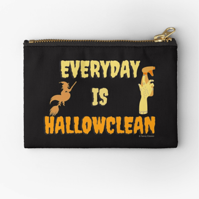Every Day is Hallowclean, Savvy Cleaner Funny Cleaning Gifts, Cleaning Zipper Bag