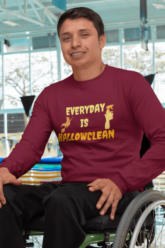 Every Day is Hallowclean, Savvy Cleaner Funny Cleaning Shirts, Classic Long Sleeve T-Shirt