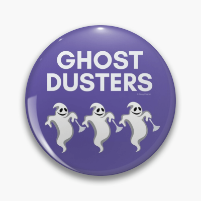 Ghost Dusters, Savvy Cleaner Funny Cleaning Gifts, Cleaning Button
