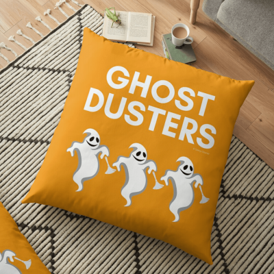 Ghost Dusters, Savvy Cleaner Funny Cleaning Gifts, Cleaning Floor Pillow