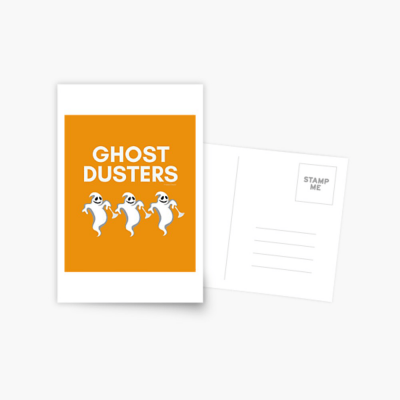 Ghost Dusters, Savvy Cleaner Funny Cleaning Gifts, Cleaning Postcard