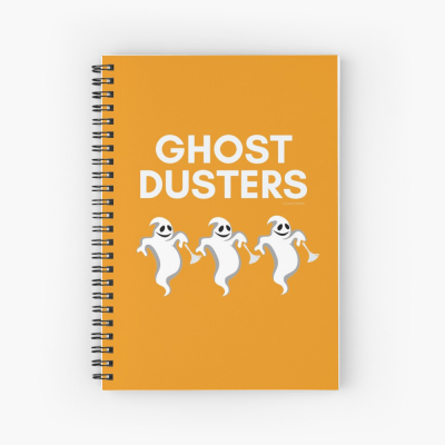Ghost Dusters, Savvy Cleaner Funny Cleaning Gifts, Cleaning Spiral Notepad