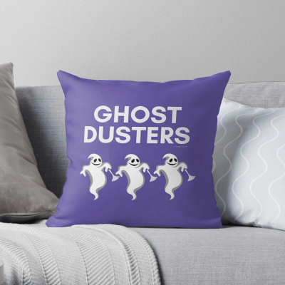 Ghost Dusters, Savvy Cleaner Funny Cleaning Gifts, Cleaning Throw Pillow
