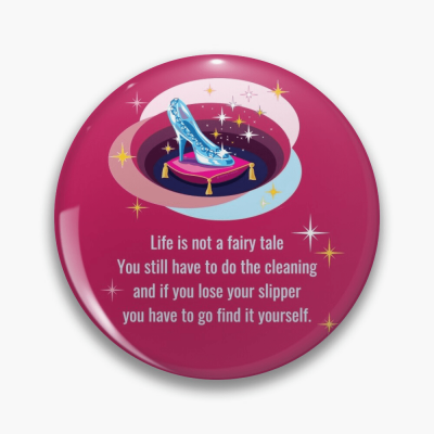 Glass Slipper, Savvy Cleaner Funny Cleaning Gifts, Cleaning Button
