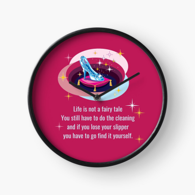Glass Slipper, Savvy Cleaner Funny Cleaning Gifts, Cleaning Clock