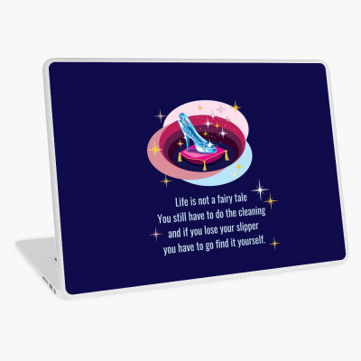 Glass Slipper, Savvy Cleaner Funny Cleaning Gifts, Cleaning Laptop Skin