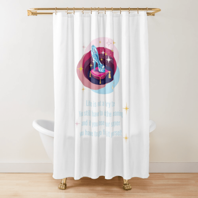 Glass Slipper, Savvy Cleaner Funny Cleaning Gifts, Cleaning Shower Curtain