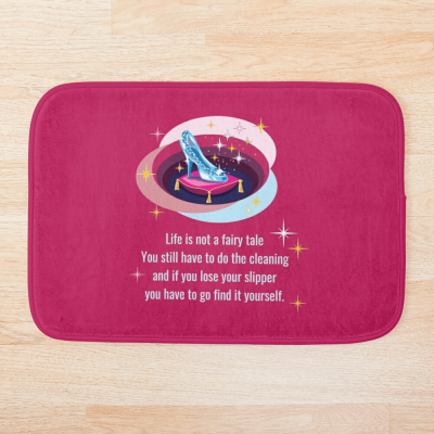 Glass Slipper, Savvy Cleaner Funny Cleaning Gifts, Cleaning bathmat